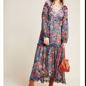 Anthropologie Maeve Annabella Maxi Dress Paisley